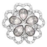 Diseño 20MM chapado en plata con diamantes de imitación blancos KC7931 broches de joyería