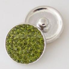 20mm snaps green Rhinestones Chunks Poppers With High Quality Bottom