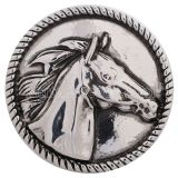 20MM Horse snap Antique Silver plated KC5159 interchangable snaps jewelry