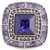 20MM diseño chapado en plata antigua chapada con diamantes de imitación púrpura KC5453 broches de joyería