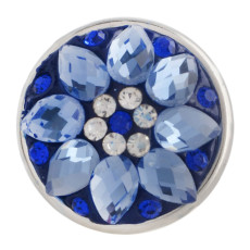 snaps button with blue rhinestone KC2717 snaps jewelry