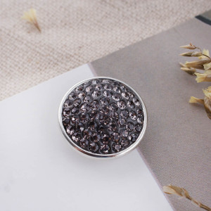 18mm Sugar snaps Alloy with gray rhinestones KB2324 snaps jewelry