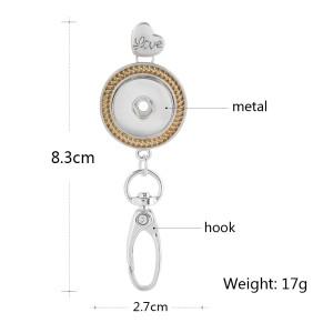 Gancho de alta calidad Colgante de collar en forma de trozos 18mm joyería rápida