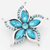Astilla de diseño 20MM plateada con diamantes de imitación azules KC6711 broches de joyería