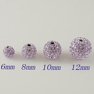6mm Brown STELLUX Austrian crystal ball beads