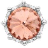 Broche de corona 20MM Plateado con diamantes de imitación de color naranja KC6814 broches de joyería