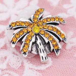 20MM Accrochage d'arbre avec strass orange KC6955 accroche un bijou