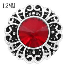 12MM snap Jan. birthstone rojo oscuro KS6376-S broches intercambiables joyería