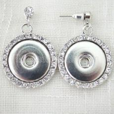 snaps metal Earring fit 18-20mm chunks