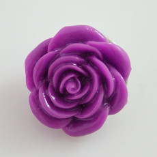18MM Flower snap Alloy resin KB2274 púrpura