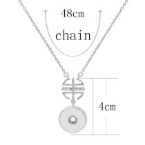 Pendant sliver Necklace with 48CM chain KC1094 snaps jewelry