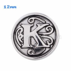 12mm K Antique snaps Silver Plated KS5013-S snap jewelry