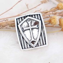 20MM cross snap Silver Plated KC6792 snaps jewelry