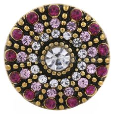 20MM round snap silver plated with purple rhinestones KC8654 interchangable snaps jewelry