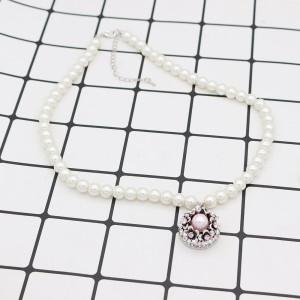 20MM Flower Snap Antik Silber Überzogen mit rosa Strass und Perle KC7691 Snaps Schmuck