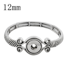 1 buttons snap sliver bracelet fit 12MM snaps jewelry KS1218-S