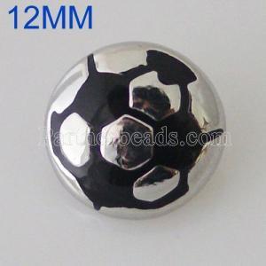 Broche de fútbol 12MM chapado en plata KB5531-S broches de joyería