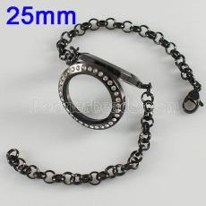25MM Stainless steel floating charm locket bracelets