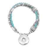 Boutons 1 Avec bouton-pression ajustable Bracelet en pierre naturelle ajustement s'emboite bijoux KC0863