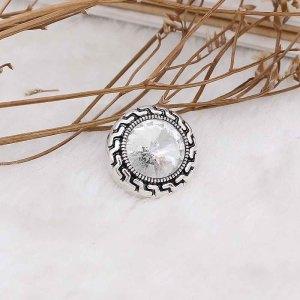 20MM оснастка апрель. Белый камень KC6577 сменные защелки ювелирные изделия