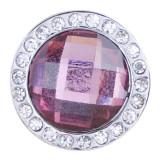schnappt facettierten Kristall mit lila Strass Snaps