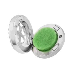 Aleación 22mm Trébol Aromaterapia / Difusor de aceites esenciales Perfume Locket snap con discos 1pc 15mm como regalo