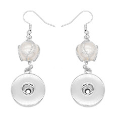 snap earring With pearls Earrings fit 20MM snaps style jewelry K1088