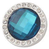 broches de cristal facetado con cian Rhinestones Snaps