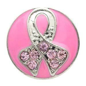 Broche de cinta 20MM plateado con diamantes de imitación rosa y esmalte KB7135 broches de joyería