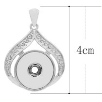 snap sliver Pendant with rhinestone fit 20MM snaps style jewelry KC0417