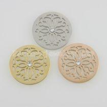 Les breloques en acier inoxydable 25MM conviennent aux fleurs de taille de bijoux avec du cristal
