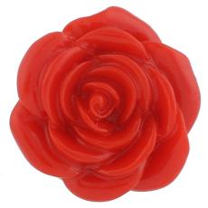 18MM Flower snap Alloy red resin KB2294 interchangeable snaps jewelry