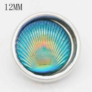 12mm Малый размер граненый голубой пластик KS6389-S оснастки ювелирные изделия