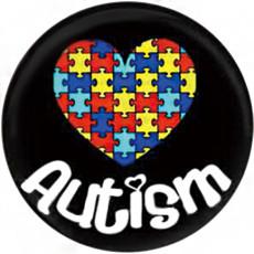 Аутизм 20MM Окрашенная эмаль, металл C5374 принт с защелками