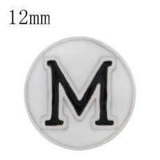 Ruban de football sportif Plaqué émail blanc KS6323-S Diameter 12MM