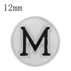 Sport football sliver Plated with white enamel KS6323-S Diameter 12MM