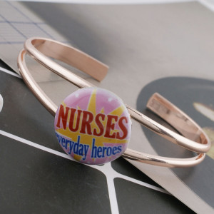 20MM nurse Painted enamel metal C5171 print snaps jewelry