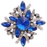 20MM chapado en plata chapada con diamantes de imitación azul profundo KC8990 broches de joyería