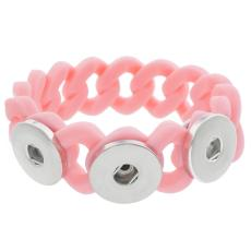 3 Buttons Silicone Stretch bracelet