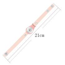 Пуговицы 1 Розовый Натуральная кожа браслеты типа KC0274 подходят для кусков 20MM защелки