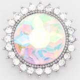 Diseño 20MM complemento plateado con diamantes de imitación KC6870 multicolor