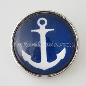 20MM snap glass Anchor KB2833-N Snaps interchangeables bijoux