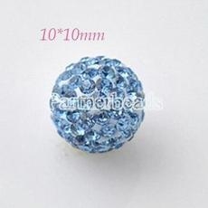 10*10mm blue Rhinestone beads
