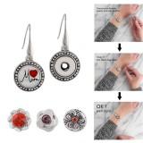 Boucle d'oreille pression 12MM s'enclenche bijoux de style KS1155-S