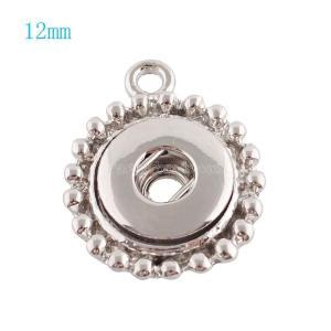 Silberplatte Anhänger der Halskette KS0919-S fit 12MM schnappt Stil kleine Stücke Schmuck