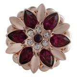 Diseño 20MM complemento chapado en oro rosa con diamantes de imitación rojos KC5634 broches de joyería