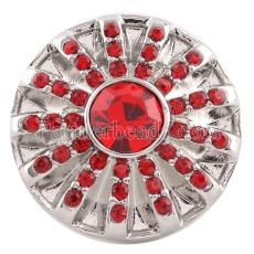 20MM snap Jul. Birthstone red KC5065 broches intercambiables joyería
