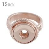 Los broches #8 se ajustan al anillo de oro rosa mini 12mm tamaño de los trozos a presión 18.5mm