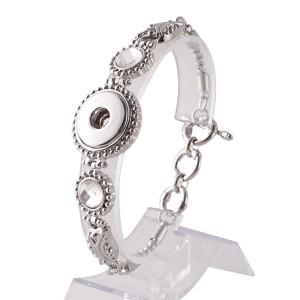 23CM 1 buttons snaps metal bracelet fit snaps chunks