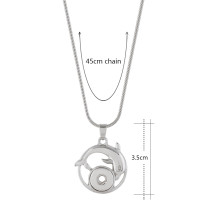 Pendant of necklace with 45CM chain fit 12MM snaps style small chunks jewelry KS1178-S